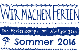 Feriencamps am Wolfgangsee im Sommer 2016