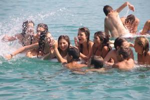 Schwimmen und Badespaß