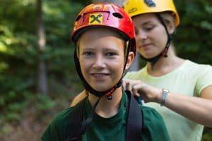 Klettern und Hochseilpark im Feriencamp am Wolfgangsee