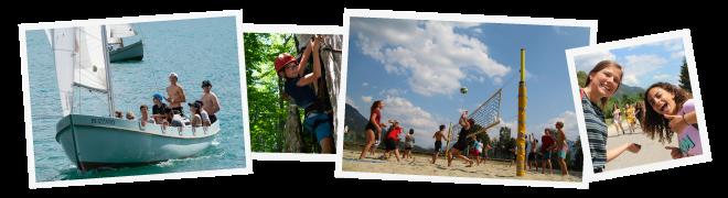 Ferienlager Fotos im Sommer am See