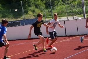 Fußball spielen am Funcourt