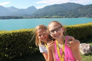 Glückliche Kinder im Ferienhort am Wolfgangsee