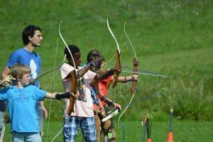 Bogenschießen und Abenteuer in der Natur im Ferien-Camp am Wolfgangsee