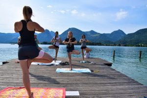 Yoga am See im Ferienhort Classic-Camp 2017